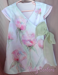 The Enchanted Garden toddler wrap dress by Rosanna Hope for Babybonbons