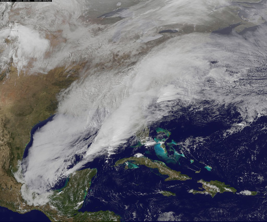 Satellite Video Shows Movement of Major U.S. Winter Storm