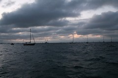 Sailboat under cloudy skies, Key West [VIEW ORIGINAL FOR ANIMATION]
