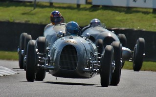 Auto Union and Mercedes Benz classics at Goodwood Revival 2012