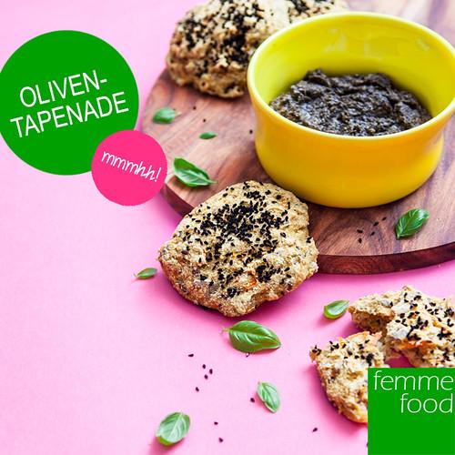 Glutenfrie gulerodsboller med oliventapenade