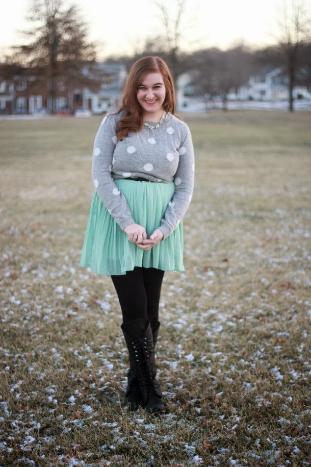 Elana, polka dot, sweater, flock together, room 334, remix, swap, outfit,