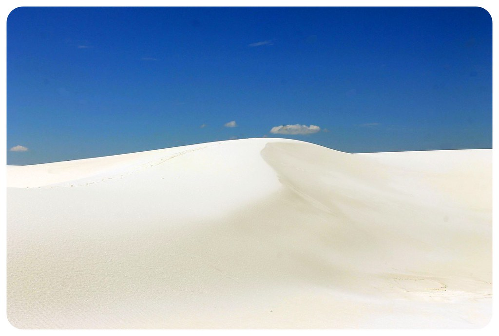 White Sands New Mexico sand dune
