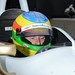 Mike Conway reviews in-car data during the 2014 Open Test at Barber Motorsports Park