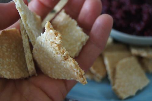 Salted sesame crackers DSC07308