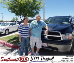 #HappyAnniversary to Daniel Shearrer on your 2009 #Dodge Truck #Ram 1500 from Richard Branch at Southwest KIA Rockwall!