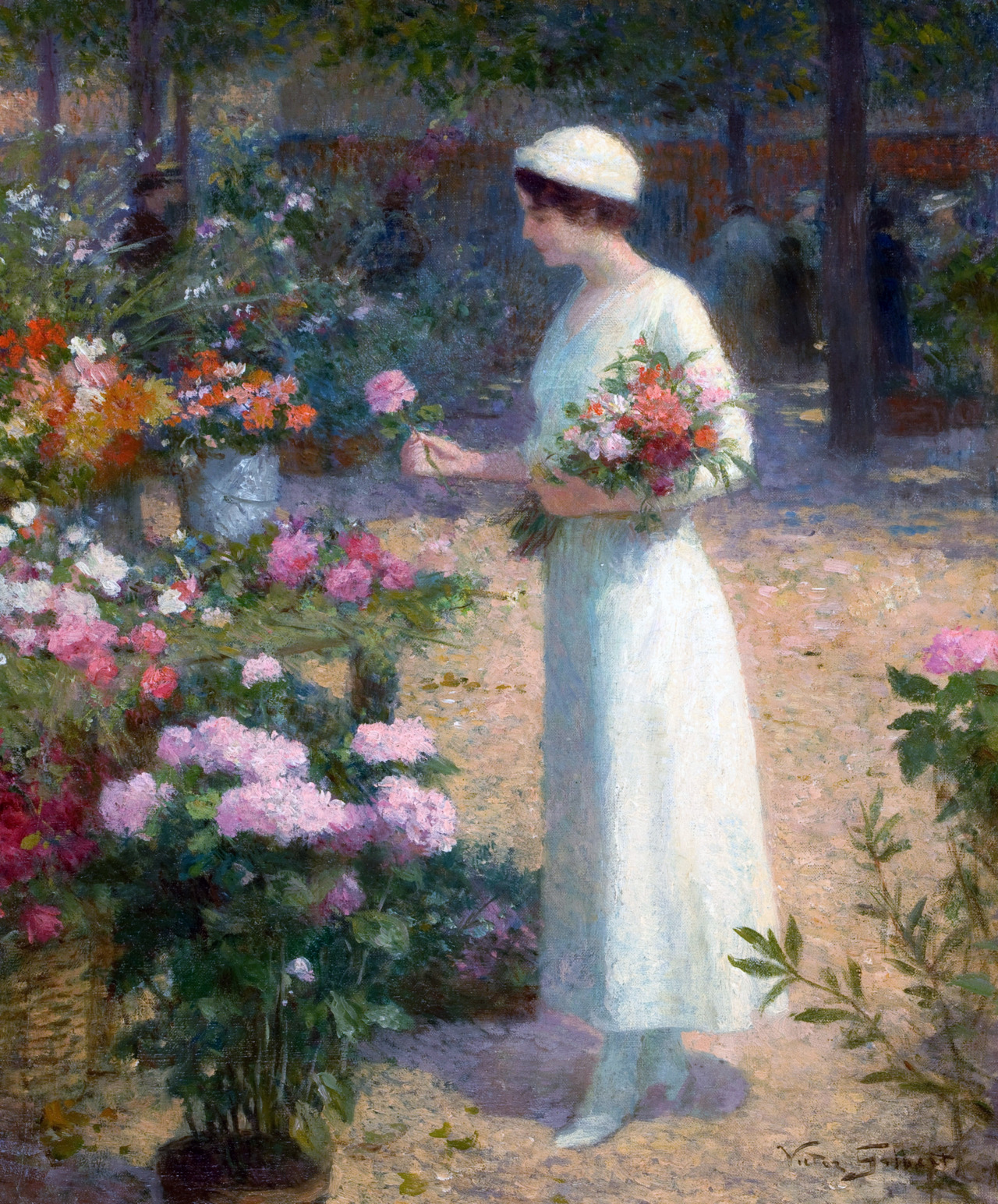 At the Flower Market by Victor Gabriel Gilbert