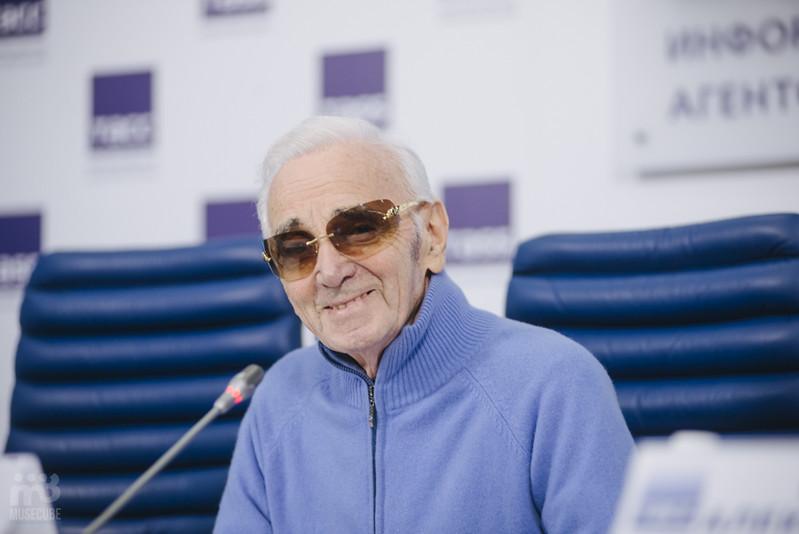 Шарль Азнавур пресс-конференция ТАСС (26)