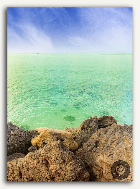 Panorama view of Serena Beach, Gujarat, India