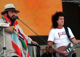 Brian May & Luciano Pavarotti @ Modena - 2003