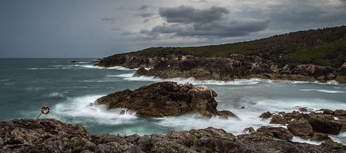 pentax k1 smcpentaxda15mmf4limited coast shoreline rocky sea storm swell waves surge clouds longexposure kianinny nsw