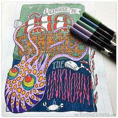 Gone a bit overboard with this one perhaps? LOL I'll keep going anyway. Blogged at http://bit.ly/2nKHEY8 Printable Octopus Embrace Colouring Page at: http://etsy.me/2ndFAGC . #octopusembrace #underwaterworld #octopuscoloringpage #coloringpage #colouringsh