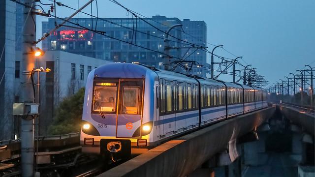 Shanghai Metro 08C01 EMU @ Jiangyue Road Station, Line 8
