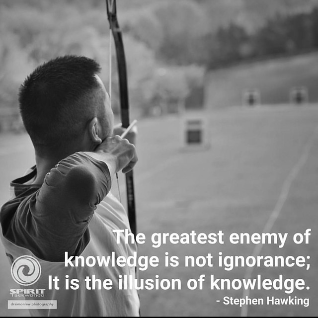 #motivationmonday  It is dangerous to think we know that we know everything.  It is even more dangerous to think we know all the basics; When we think we have all the knowledge and skill and resources necessary.   When you keep your head down looking for