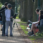 Filming in Avenham Park