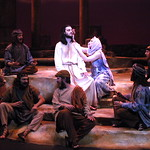 Jesus Christ Superstar - Arvada Center 2017 - Ensemble with Jesus of Nazareth (Billy Lewis Jr.) and Mary Magdalene (Jenna Bainbridge) P. Switzer Photography 2017