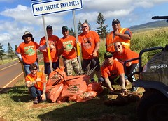 Maui Electric's Adopt-A-Highway on Lanai - March 26, 2017: Beautifying our roads on Lanai!