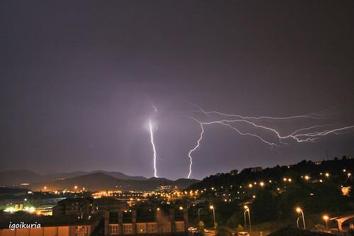 Noche tormentosa en Galdakao