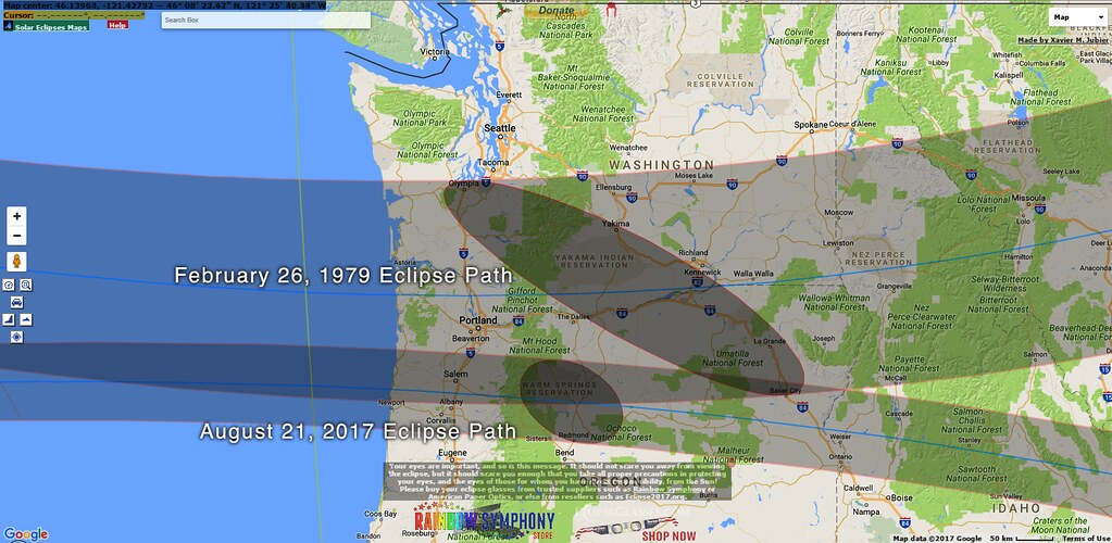 1979 And 2017 Eclipse Path Since We Re A A Little More Tha Flickr