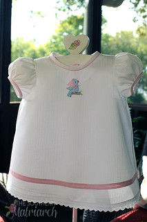 Machine Shadow work Baby Dress