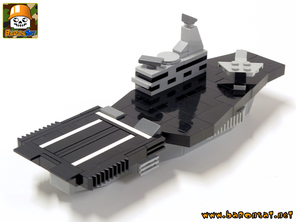 Aircraft carrier (custom built Lego model)