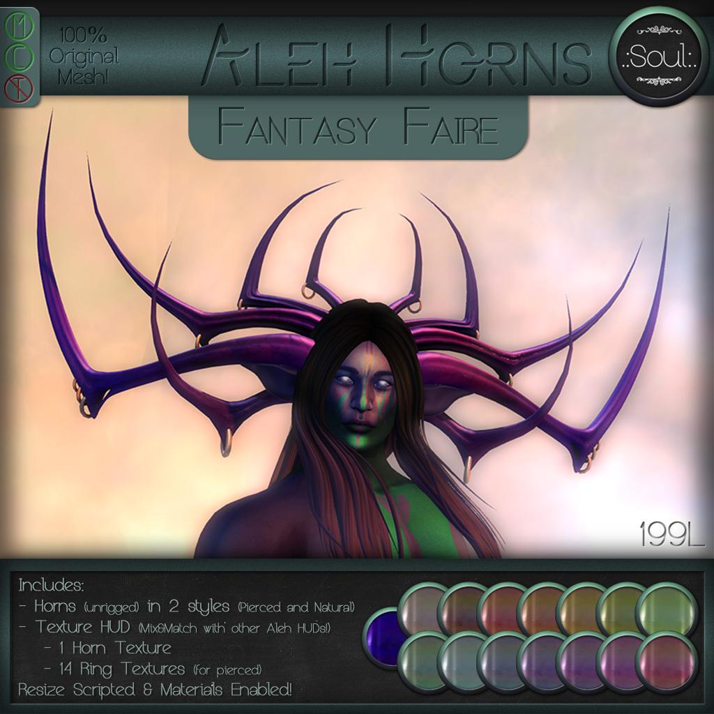 .:Soul:. Aleh Horns - Fantasy Faire - SecondLifeHub.com