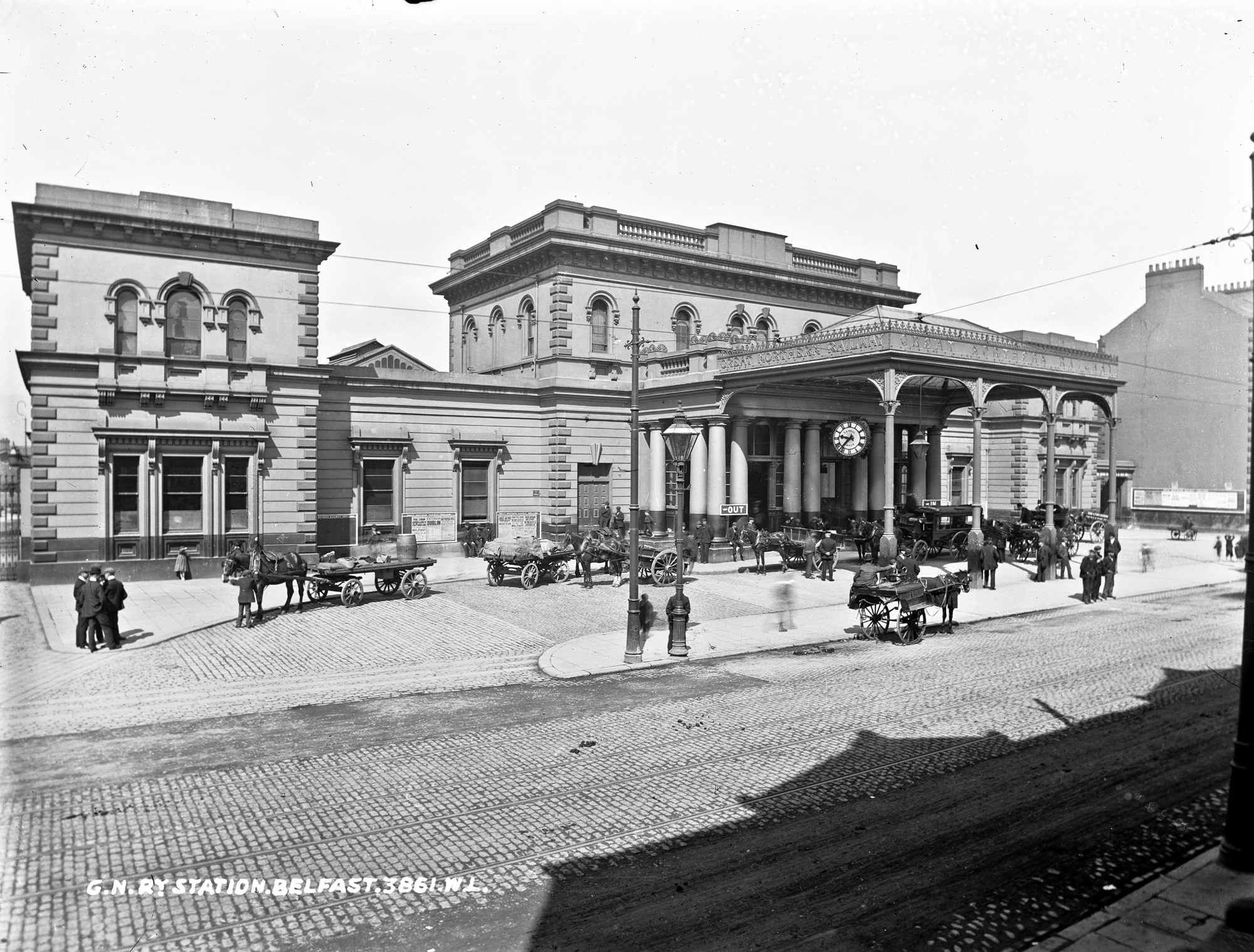GNR [i.e. Great Northern Railway] Station, Belfast