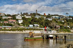 paddle steamer Waimarie with Durie Hill water tower in background, Whanganui