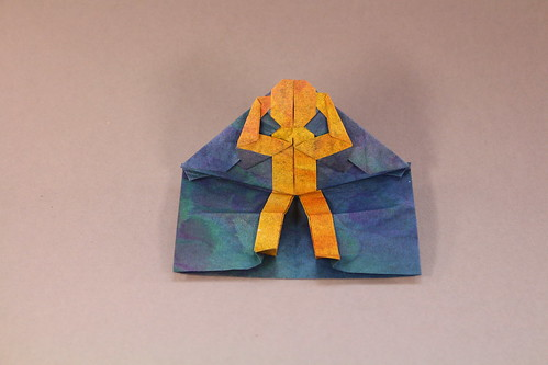 Person doing Sit-ups Pop-up Card by Jeremy Shafer. | by origami_8