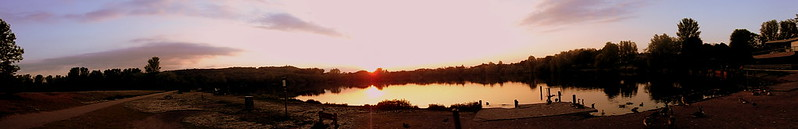 Westport Lake Sunset Panoramic