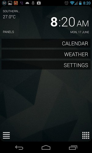 SickSky settings panel
