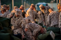 Marines prepare to embark the amphibious assault ship USS Bonhomme Richard (LHD 6), June 24. (U.S. Navy photo by Mass Communication Specialist 2nd Class Andrew B. Church/Released)
