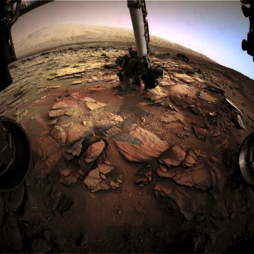 Curiosity sol 322 Front Hazcams Left B