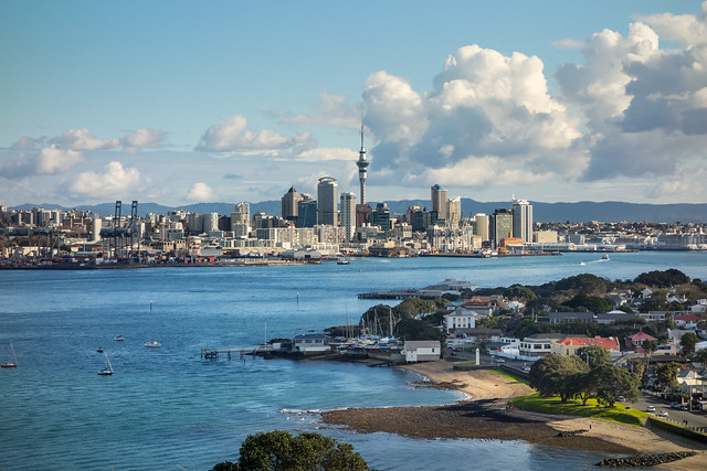Auckland City viewed from Mt Victoria