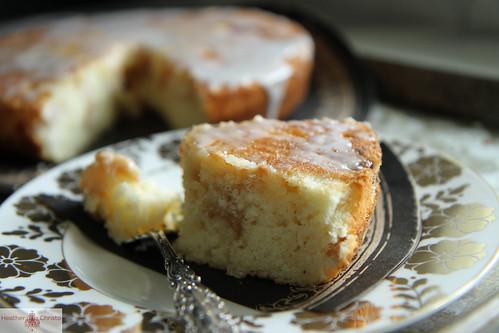 Cherry Almond Buttermilk Cake