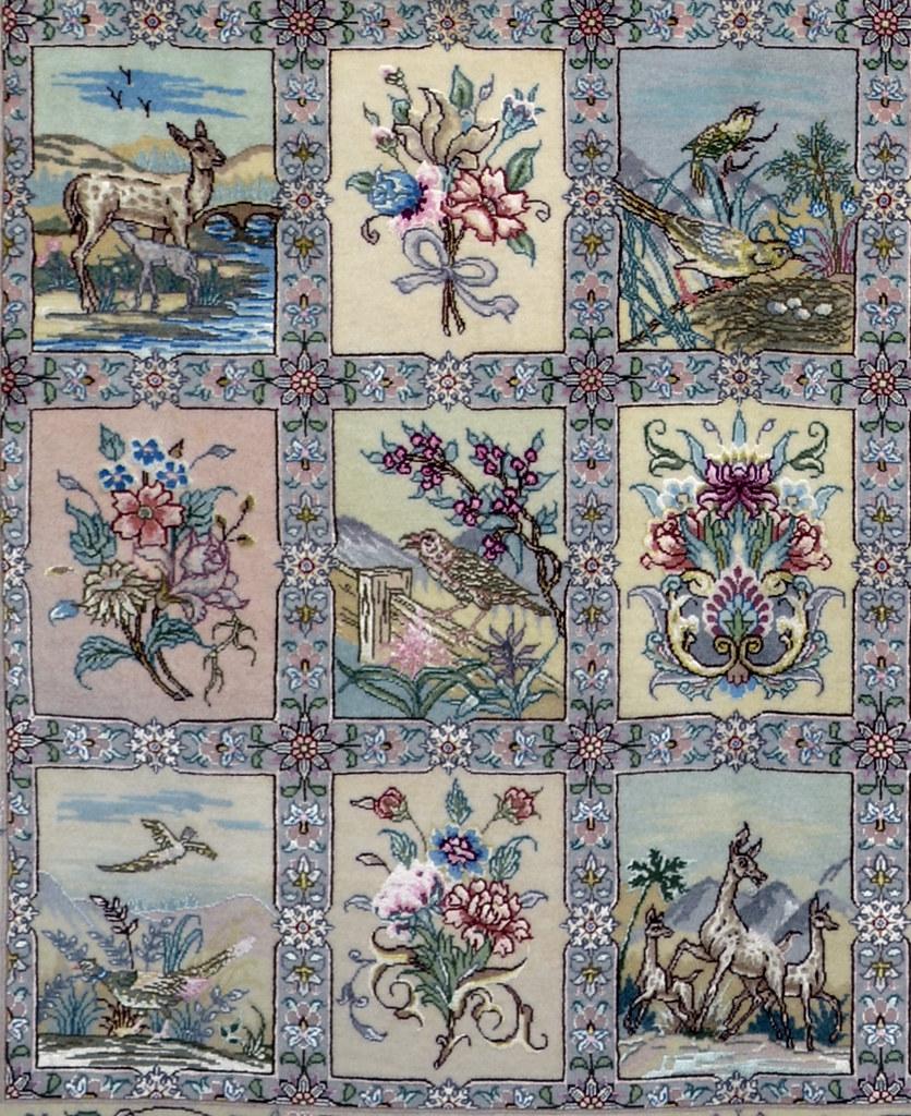 Four Season Persian Silk Area Rug
