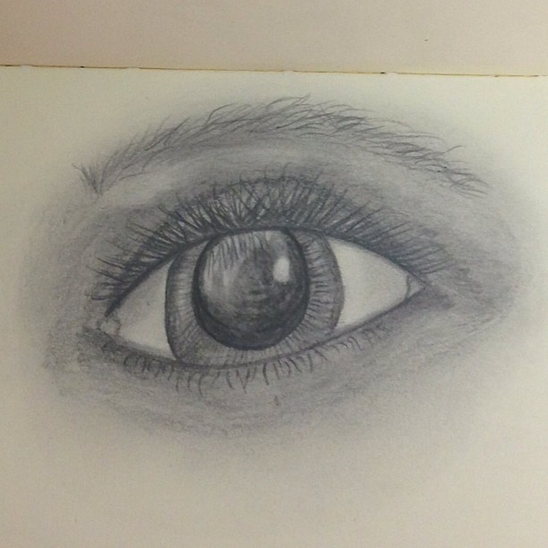 Finished for now... Attempted the #eyelashes #graphite #drawing #drawingeyes