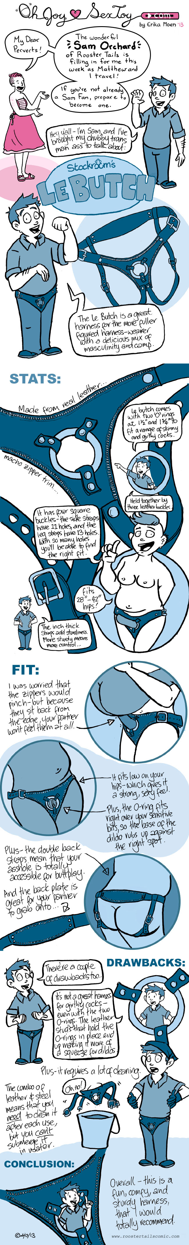 a comic raving about the le butch