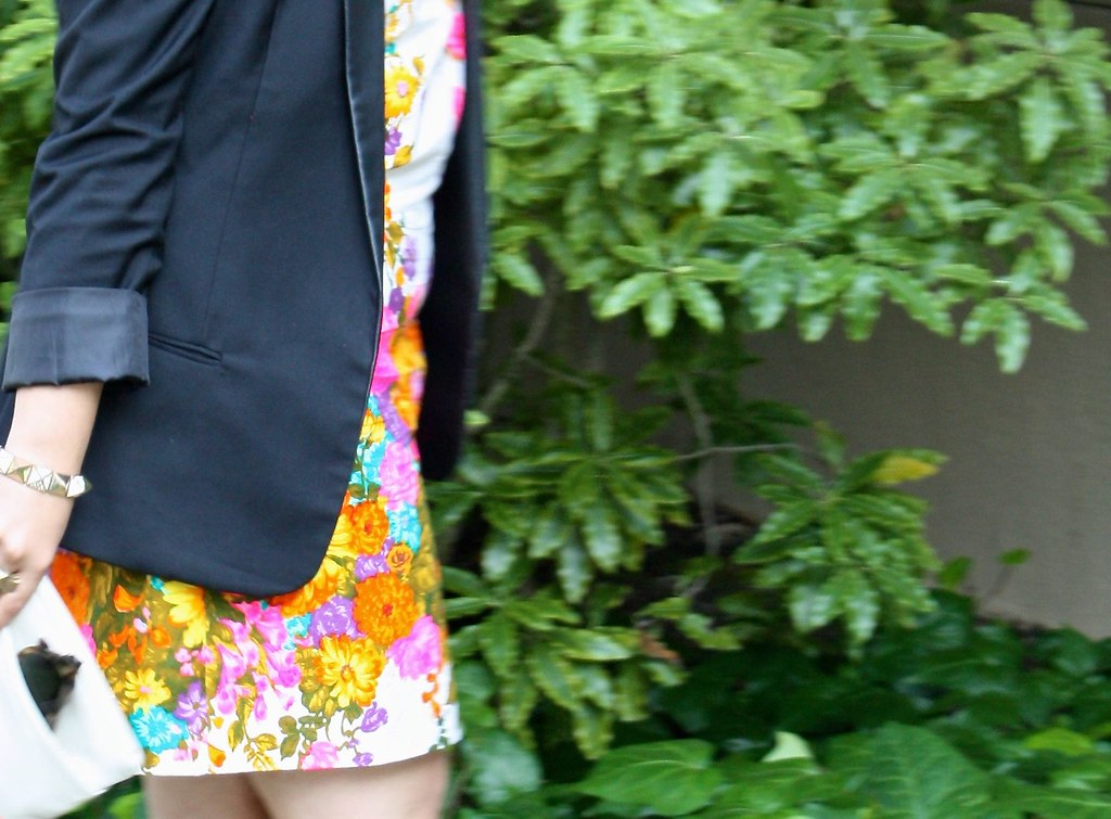 Leather & Neon Floral
