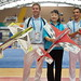 Mrs Lu Xiaolin (International Wushu Federation) with the FAI AeroMusicals pilots