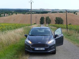 El vehículo que alquilé en Toulouse para recorrer el Gers