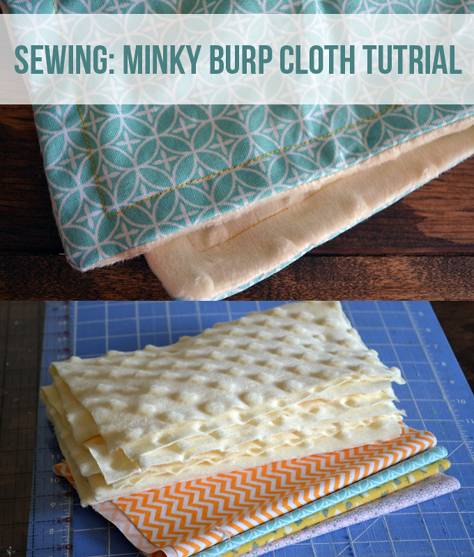 Minky Burp Cloth Sewing Tutorial