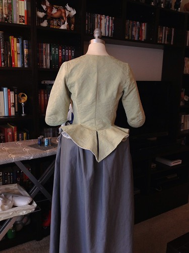 Green Jacket and Grey Petticoat