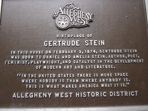 Gertrude Stein Pittsburgh IMG_8545