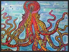 window(0.0), glass(0.0), art(1.0), pattern(1.0), octopus(1.0), psychedelic art(1.0), marine invertebrates(1.0), illustration(1.0), modern art(1.0),