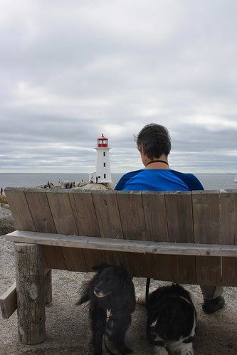 Dachary and the beasts at Peggy's Cove