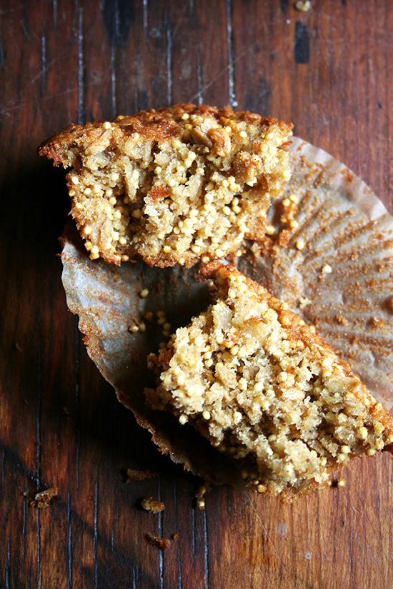 halved gluten-free muffin