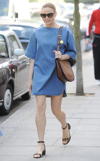 Stella McCartney Denim Dress Celebrity Style Women's Fashion