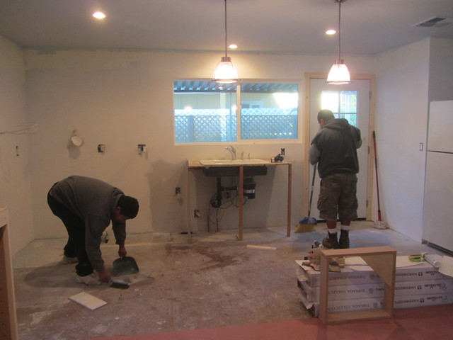 kitchen during the before