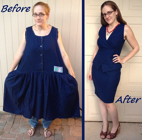Refashion Runway Week 3: Peplum - Before & After